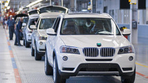 BMW plant assembly line 30.08.2011