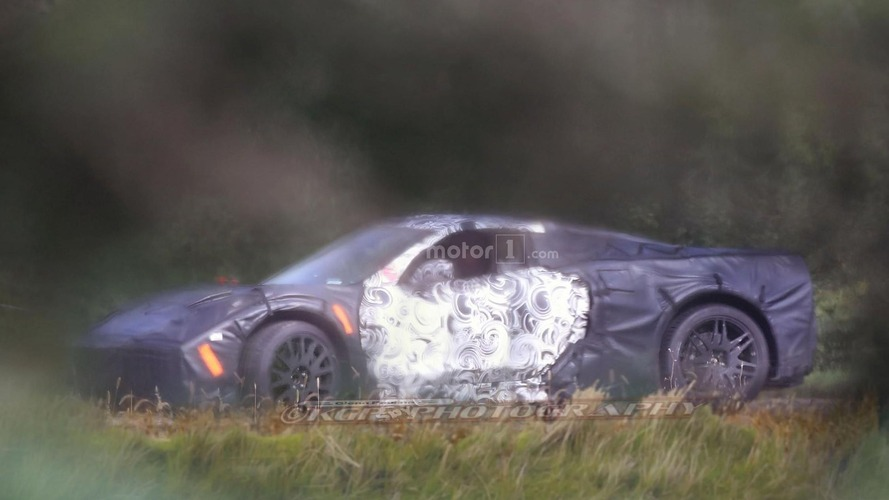 Mid-engined Chevy Corvette spy photo