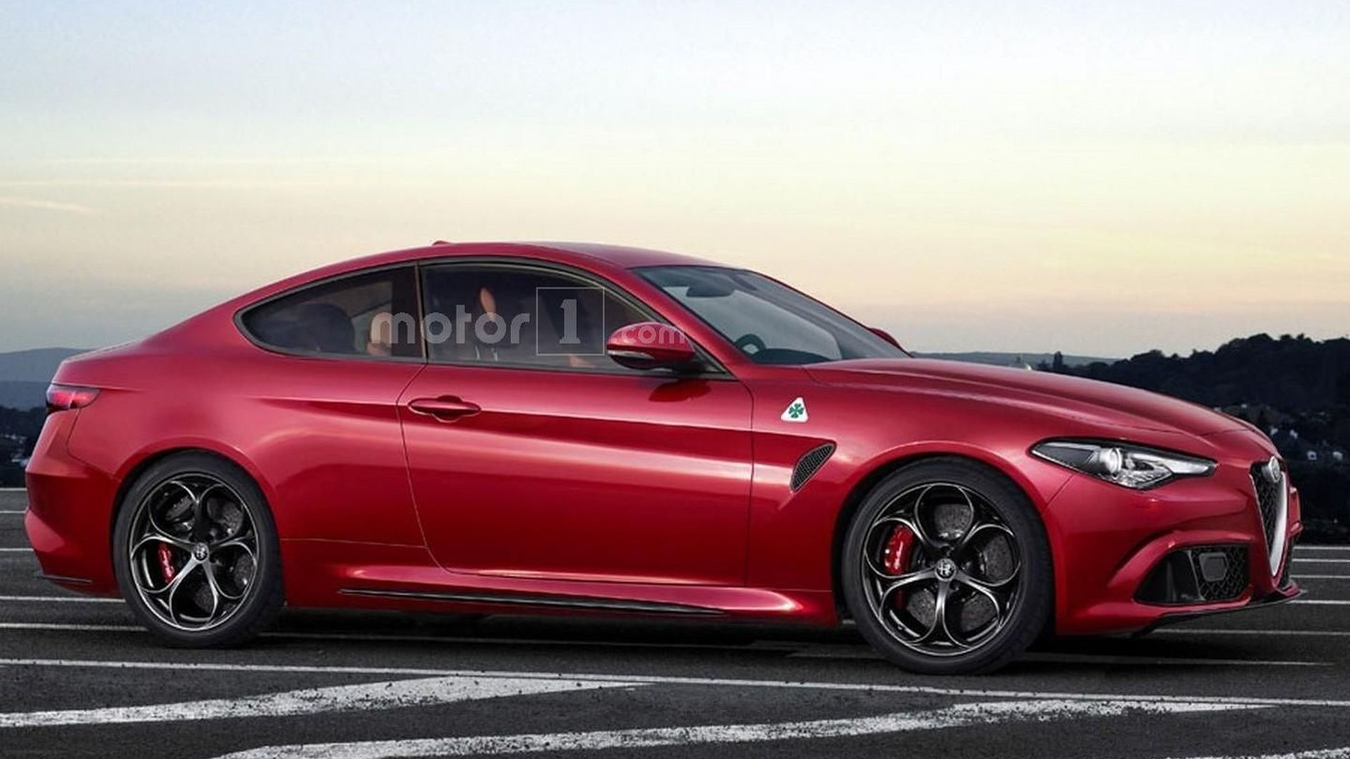 alfa romeo giulia coupe quadrifoglio is only a speculative render. Black Bedroom Furniture Sets. Home Design Ideas