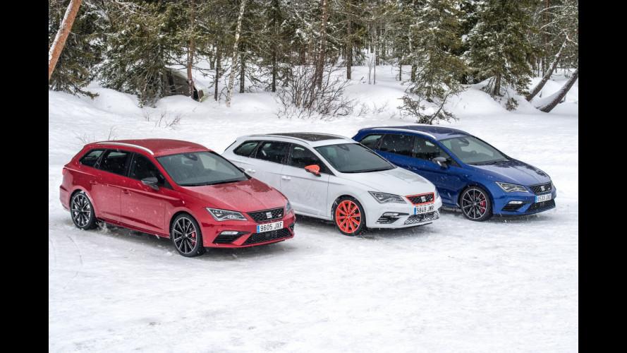 Seat Leon ST Cupra 4Drive, regina delle nevi