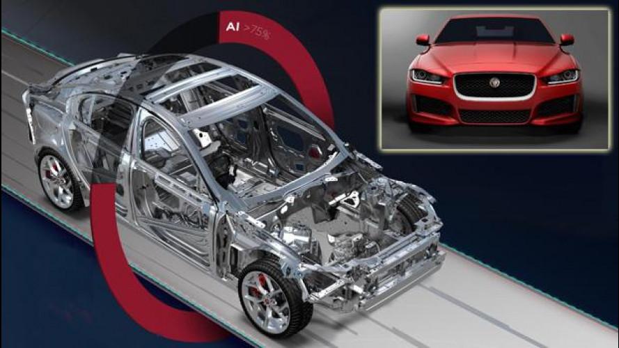 Jaguar XE: meno peso per consumi record