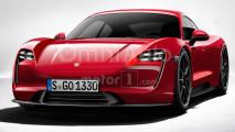 Porsche Mission E, il rendering