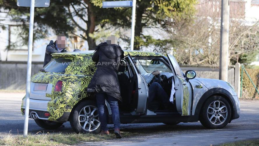 MINI Cooper five-door spied showing new details