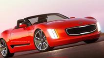 Kia GT4 Stinger concept rendered sans roof