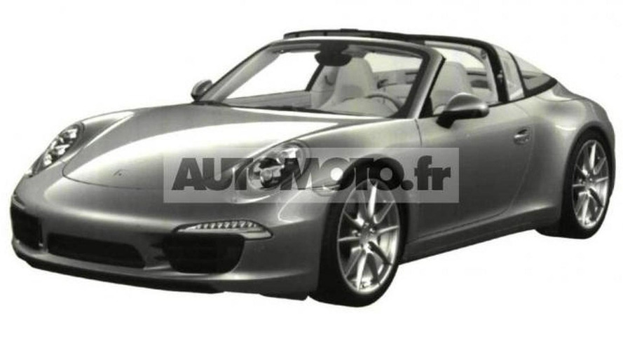 2014 Porsche 911 Targa leaked through patent photos ?