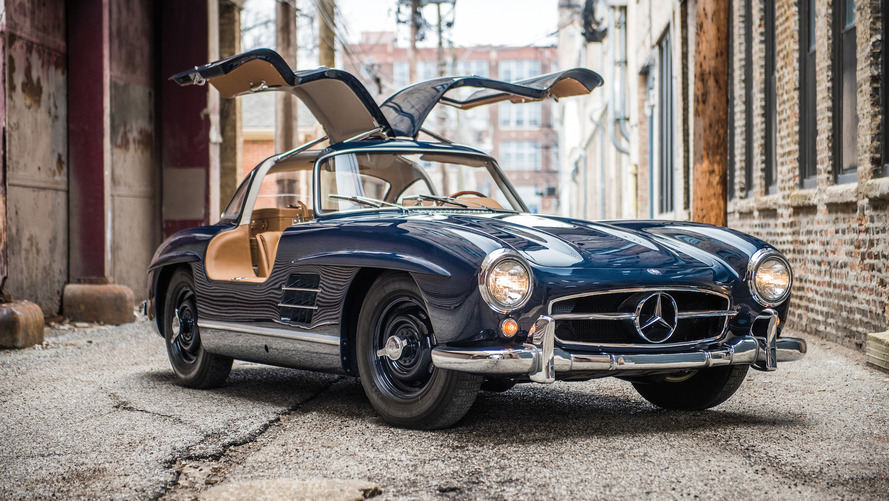 mercedes 300 sl gullwing is a beautiful way to spend 1 4m. Black Bedroom Furniture Sets. Home Design Ideas