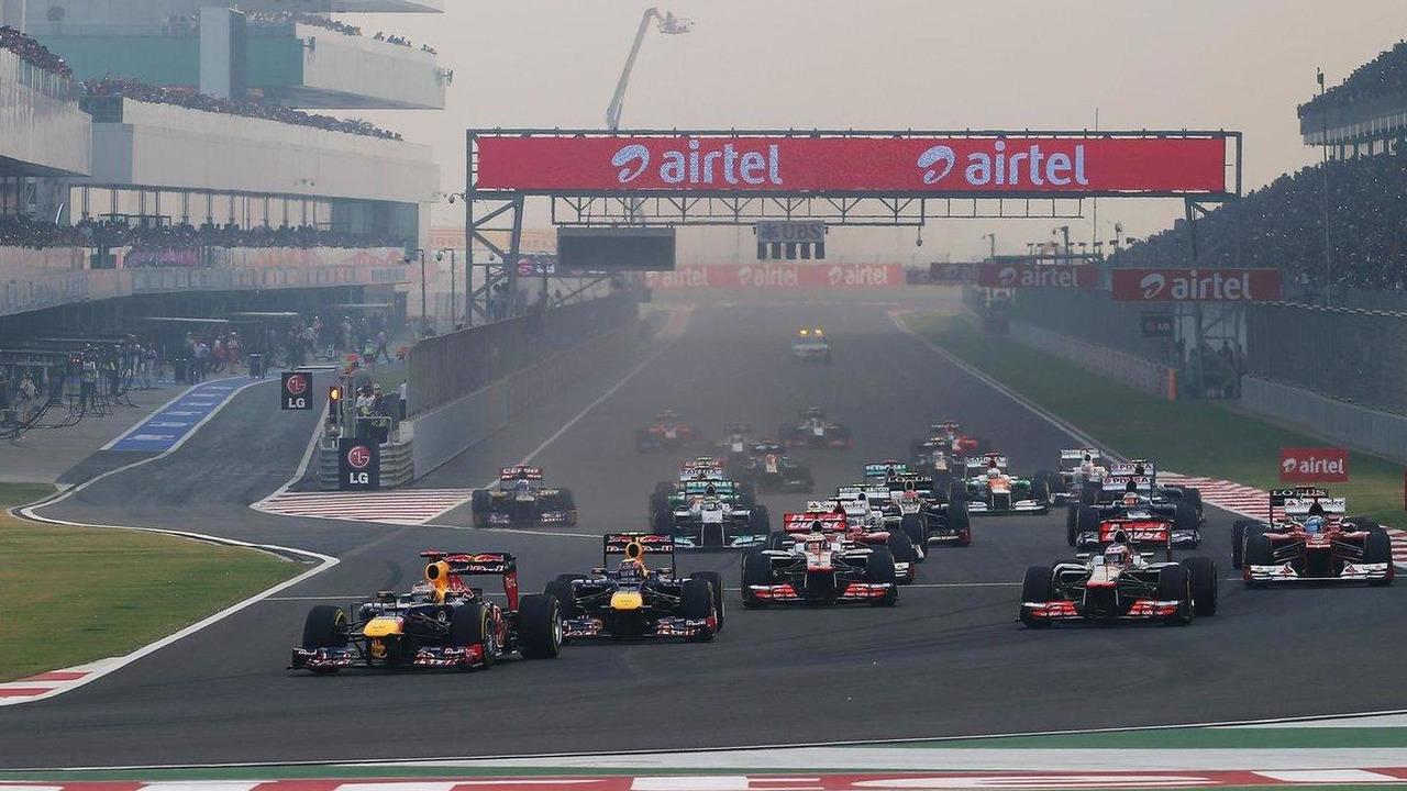 Indian Grand Prix race start, 28.10.2012
