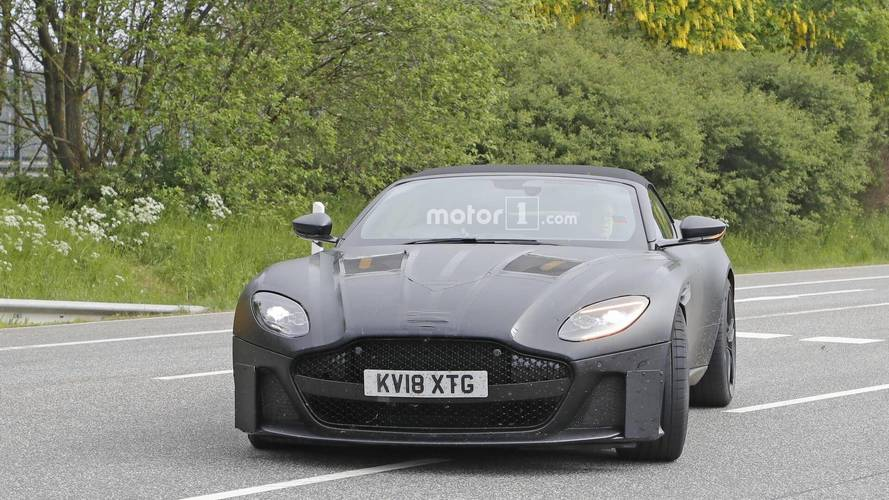 Aston Martin DBS Superleggera Volante spy photos