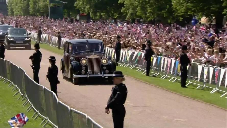 Clássico Rolls-Royce da Rainha da Inglaterra foi usado no casamento real