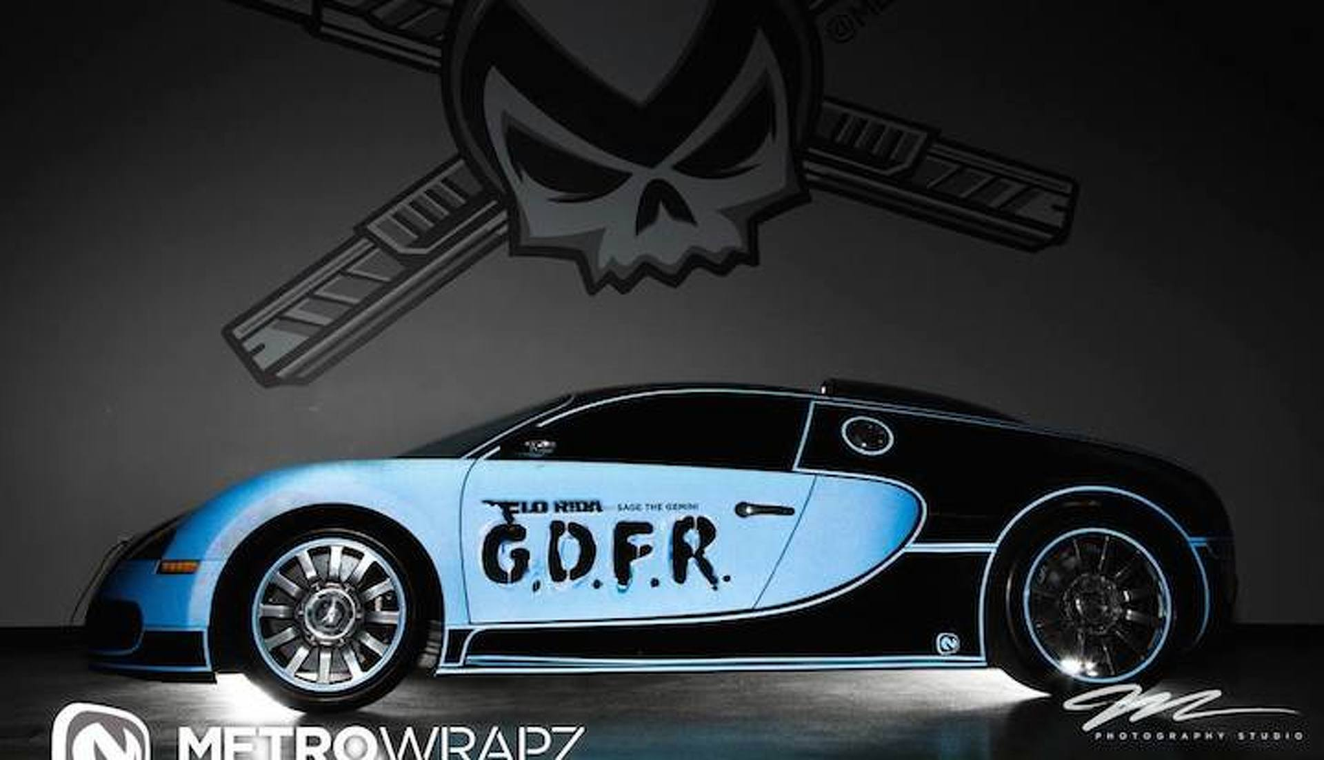 "Watch Flo Rida's ""Tron"" Bugatti Veyron Cruising South Beach"