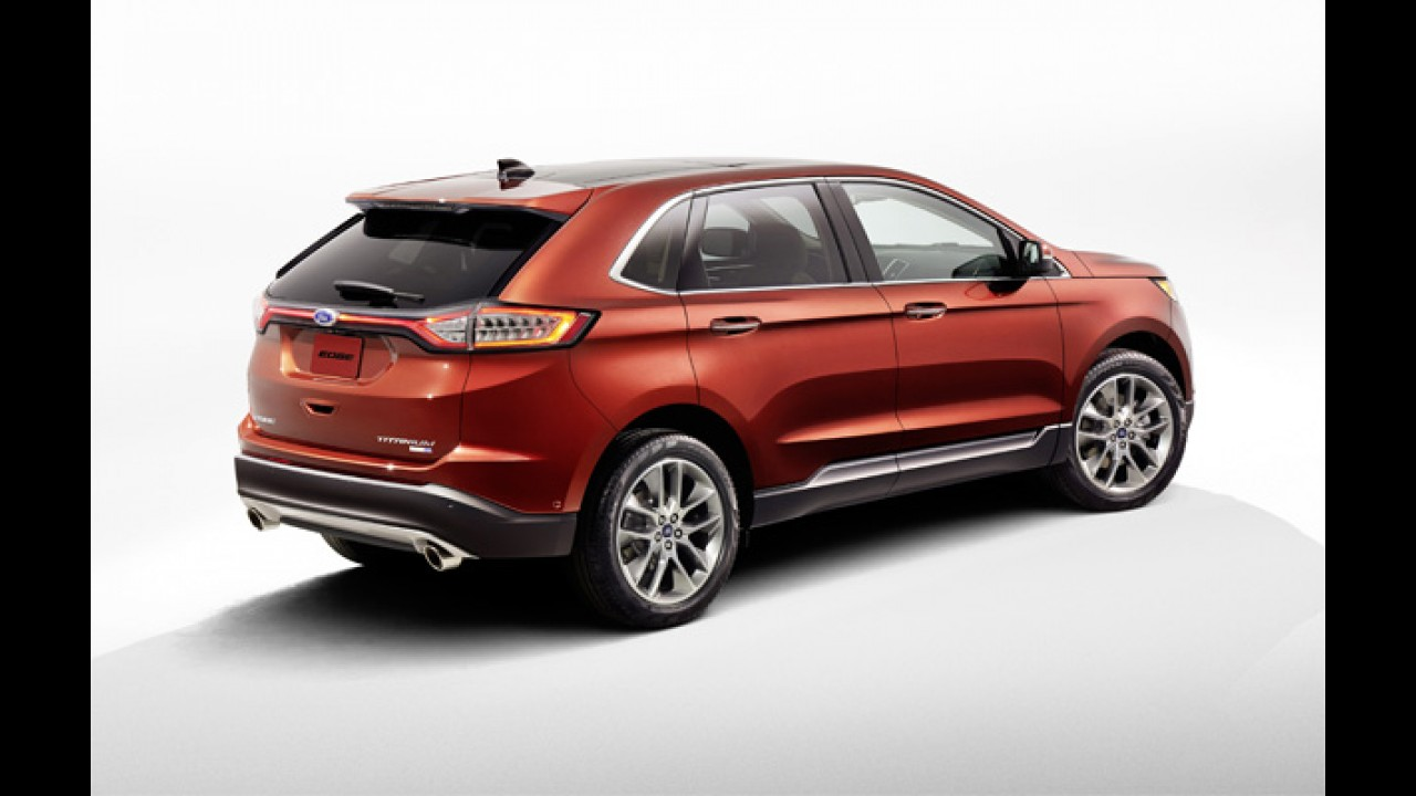 Flagra! Ford testa novo Edge 2016 no Brasil