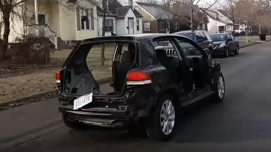 Stripped out VW Golf TDI driven before eventually being handed to dealer