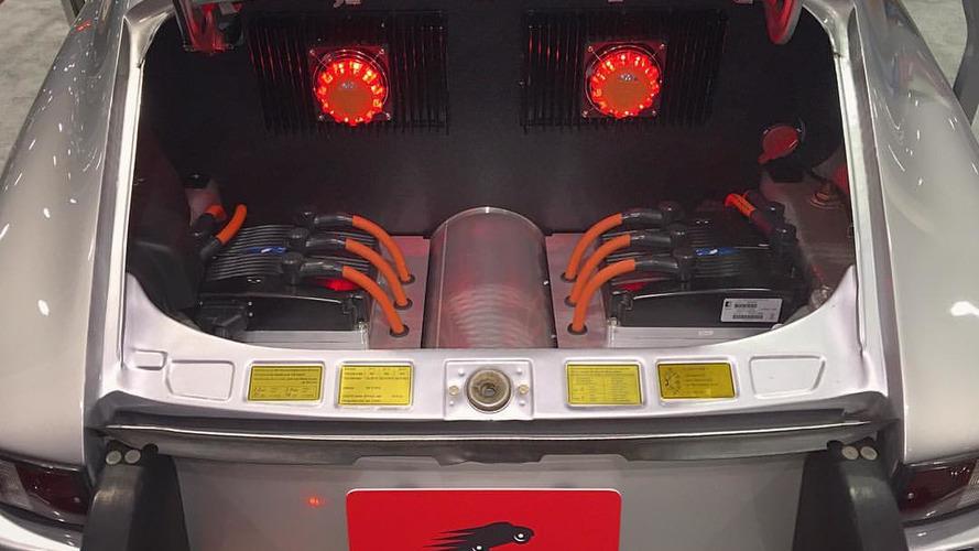 Tesla bataryası kullanan elektrikli Porsche