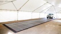 Colas solar panel road