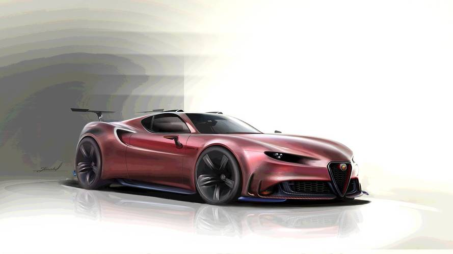 Alfa Romeo 8C Competizione'nin halefi böyle bir şey olabilir mi?