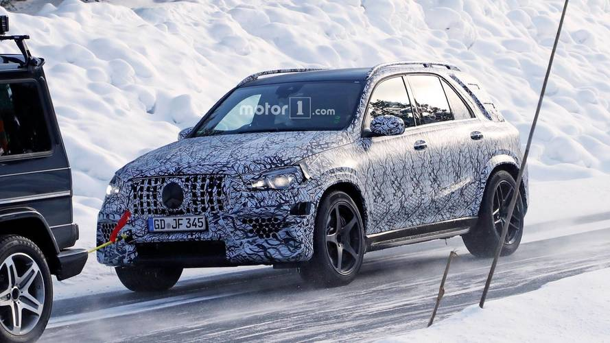 New Mercedes-AMG GLE 63 Prototype Caught Getting Towed By G55