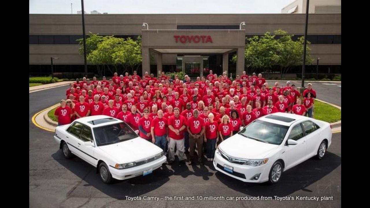 Toyota comemora 10 milhões de veículos produzidos na planta de Kentucky, EUA