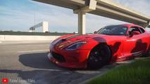 SRT Viper crash at Cars and Coffee Houston