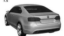VW Jetta Coupe design Patent Image