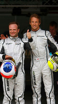Rubens Barrichello and Jenson Button, Qualifying, Spanish grand prix 2009