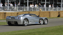 Covini C3A is first 6 wheeler supercar to tackle Goodwood hill