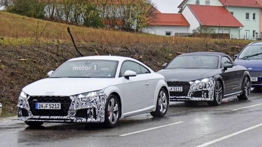 Makyajlı Audi TTS Casus Fotoğraflar