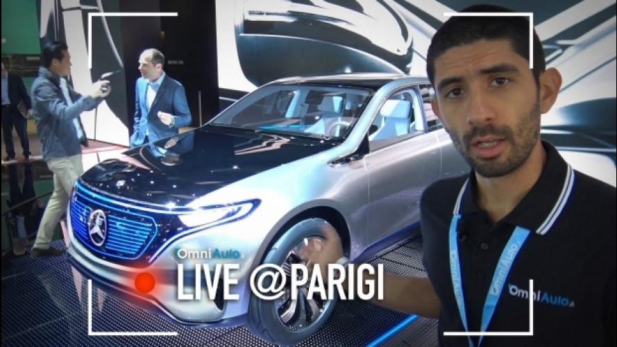 Salone di Parigi, Mercedes EQ e l'auto elettrica a 360 gradi [VIDEO]