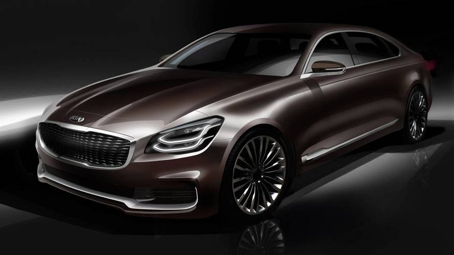 Kia K900 Teaser Sketches Preview New Look For Suave Sedan