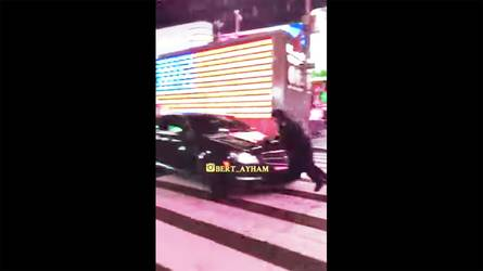 Mercedes C63 Hoon Hits NYC Cop In Times Square, Manhunt Is On