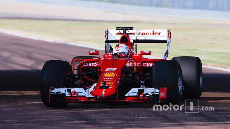 Pirelli reveals images of Ferrari's first wide-tire test