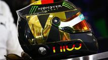 The helmet of Nico Rosberg (GER) Mercedes AMG F1 in the FIA Press Conference, 17.07.2014, Formula 1 World Championship, Rd 10, German Grand Prix / XPB