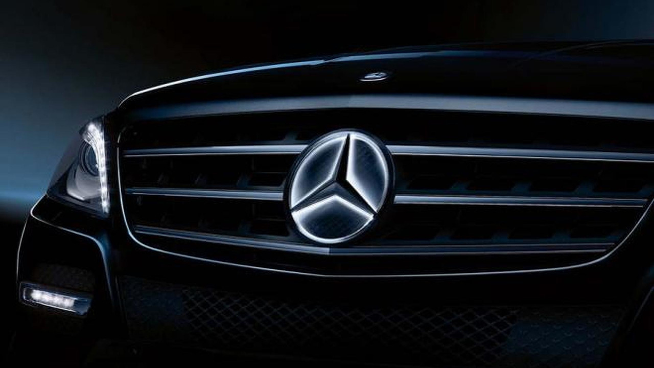 mercedes benz illuminated star logo photo