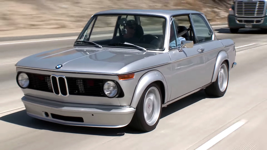 Jay Leno Welcomes BMW 2002 With M3 Engine Into His Garage