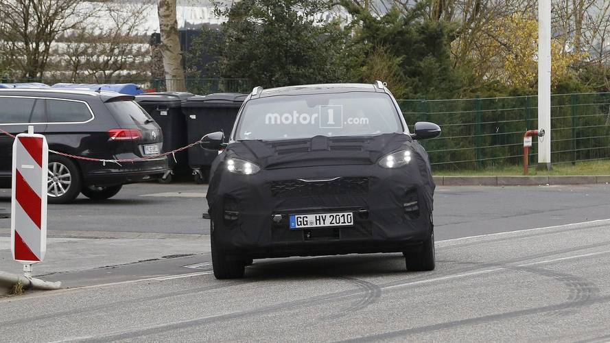 2019 Kia Sportage facelift new spy photos