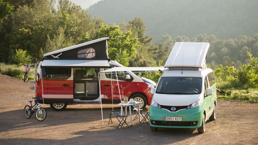 Nissan e-NV200 y NV300 Camper: para excursionistas ecológicos