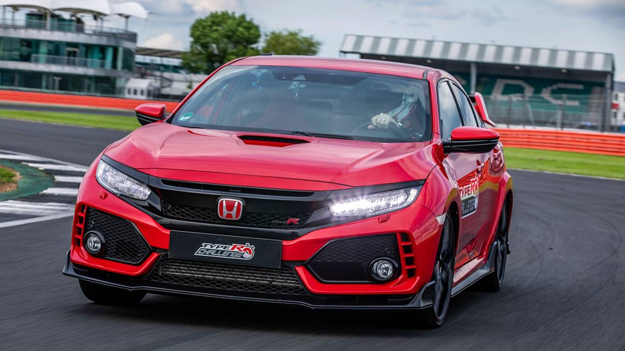 honda civic type r record silverstone photos. Black Bedroom Furniture Sets. Home Design Ideas