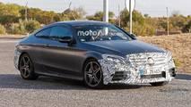 Mercedes-AMG C43 Coupe Refresh Spy Shot