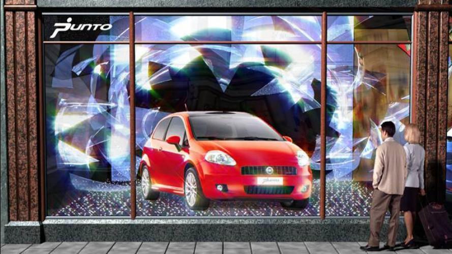 Fiat Grande Punto in vetrina da Harrods!