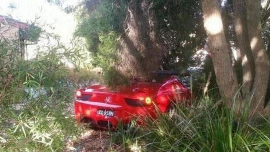 Ferrari 458 Spider crashes in Adelaide, no injuries