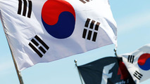 Korean and F1 flags 04.10.2013 Korean Grand Prix