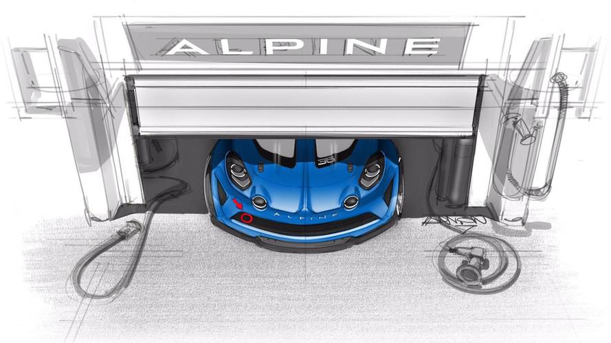 Alpine A110 yarış aracının ilk teaser'ı