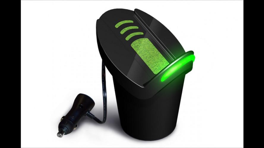 Handy, MP3-Player und PDA drahtlos im Fahrzeug aufladen