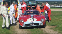 Ferrari 250 GTO driver drops F-bombs after crash at Goodwood Revival