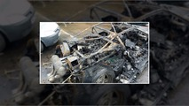 Ferrari F40 wrecked by fire
