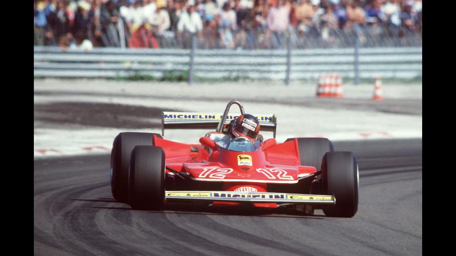 Jacques Villeneuve sulla Ferrari 312 T4 di Gilles