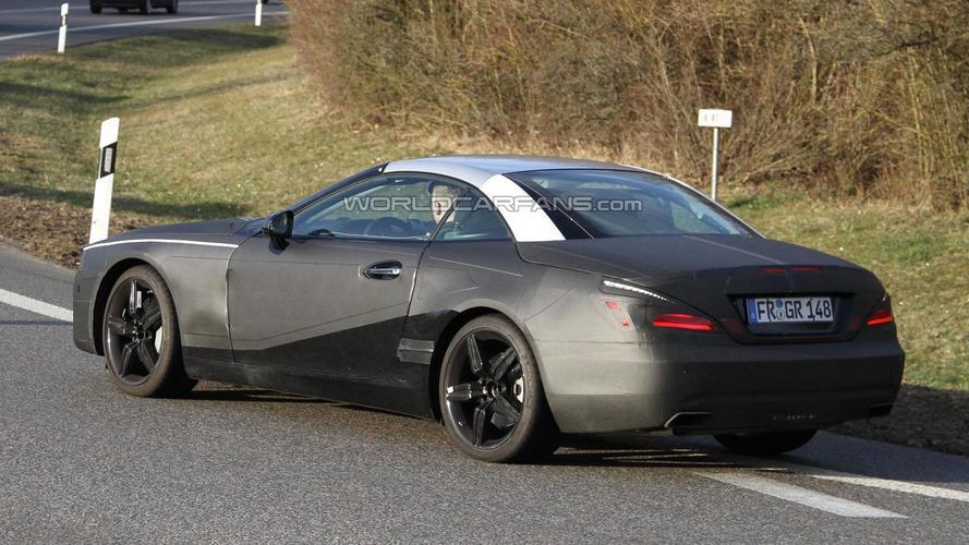 2012 Mercedes SL spied near the Nürburgring