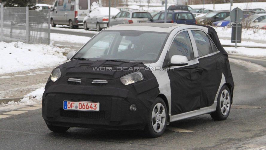 2012 Kia Picanto spied winter testing