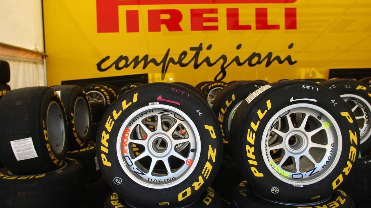 Pirelli tires used for GP3 racing, in the GP3 paddock, Turkish Grand Prix, 27.05.2010 Istanbul, Turkey