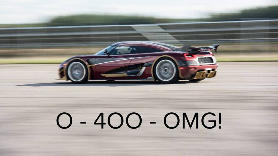 Koenigsegg Agera RS 0-400-0 km/s rekorunu kırdı!