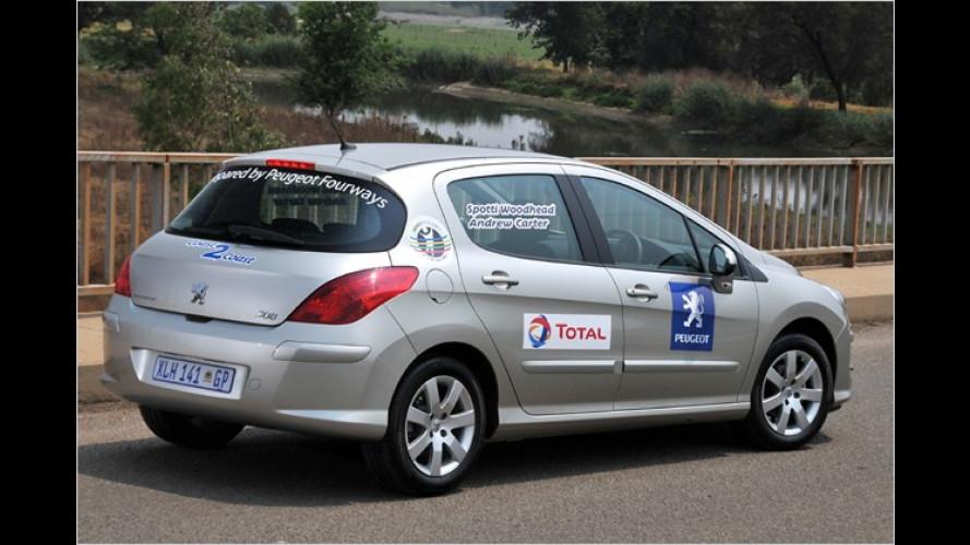 Peugeot 308 Rekord: 1.689 Kilometer mit einer Tankfüllung